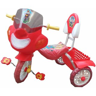 Oh Baby Baby Bike Musical With Tubeless Tyre Red Color Tricycle For Your Kids SE-TC-28