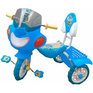 Oh Baby Baby Bike Musical With Tubeless Tyre Blue Color Tricycle For Your Kids SE-TC-29