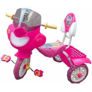Oh Baby Baby Bike Musical With Tubeless Tyre Pink Color Tricycle For Your Kids SE-TC-30