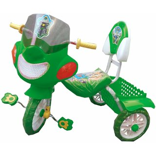 Oh Baby Baby Bike Musical With Tubeless Tyre Green Color Tricycle For Your Kids SE-TC-31