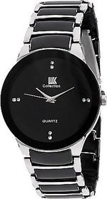 Iik Black Silver Metal Analog Round Casual Watch For Me