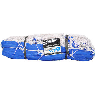 SAS Volleyball Net for Match Training Practice Braided nylon with 100 mm mesh - 9.5m x 1.0m Volleyball Net White