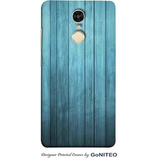Printed Mobile Phone Back Cover Case for Redmi Note 4 by GoNITEO || Wood || Texture || Blue ||