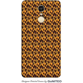 Printed Mobile Phone Back Cover Case for Redmi Note 4 by GoNITEO || Orange || Tree || Brown ||