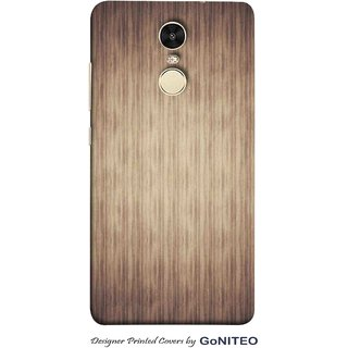 Printed Mobile Phone Back Cover Case for Redmi Note 4 by GoNITEO || Texture || Brown || Stripes ||