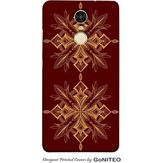 Printed Mobile Phone Back Cover Case for Redmi Note 4 by GoNITEO    Rangoli    Brown    Art   