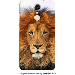 Printed Mobile Phone Back Cover Case for Redmi Note 4 by GoNITEO || Mighty  || Lion || Sher ||