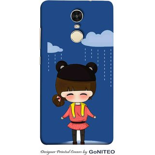 Printed Mobile Phone Back Cover Case for Redmi Note 4 by GoNITEO || Girl || Cloud || Blue ||
