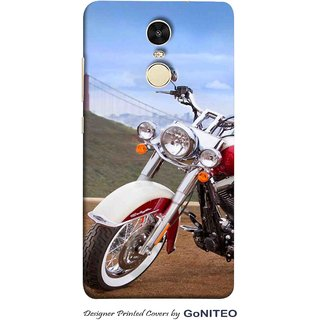 Printed Mobile Phone Back Cover Case for Redmi Note 4 by GoNITEO || Bike  || Rider || Racer ||