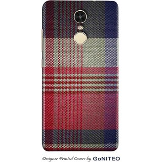 Printed Mobile Phone Back Cover Case for Redmi Note 4 by GoNITEO || Stripes || Fabric || Texture ||