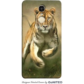 Printed Mobile Phone Back Cover Case for Redmi Note 4 by GoNITEO || Tiger || Jungle || Attack ||
