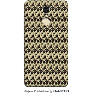 Printed Mobile Phone Back Cover Case for Redmi Note 4 by GoNITEO || Flowers || Black || White ||