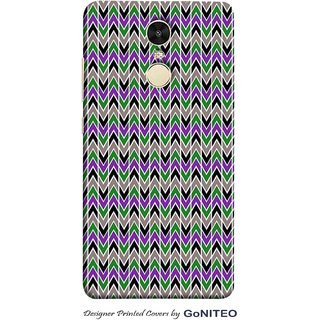 Printed Mobile Phone Back Cover Case for Redmi Note 4 by GoNITEO || Up Down || Green || Blue ||