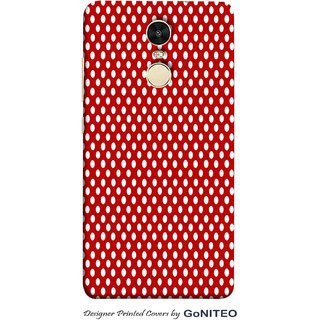 Printed Mobile Phone Back Cover Case for Redmi Note 4 by GoNITEO || Oval || Red || Dots ||