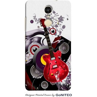 Printed Mobile Phone Back Cover Case for Redmi Note 4 by GoNITEO || Music || Instruments || Guitar ||