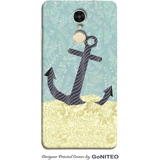 Printed Mobile Phone Back Cover Case for Redmi Note 4 by GoNITEO || Anchor || Ocean || Blue ||