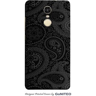 Printed Mobile Phone Back Cover Case for Redmi Note 4 by GoNITEO    Grey    Black     Art   