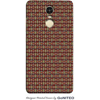 Printed Mobile Phone Back Cover Case for Redmi Note 4 by GoNITEO || Circles || Brown || Tribal ||