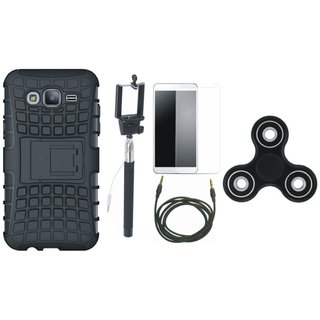 Vivo Y55 Shockproof Tough Defender Cover with Free Spinner, Selfie Stick, Tempered Glass and AUX Cable