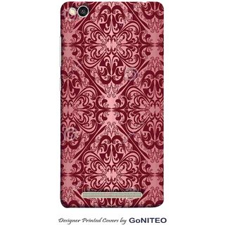 Printed Mobile Phone Back Cover Case for Redmi 3s by GoNITEO || Magenta || Brown || Rangoli ||