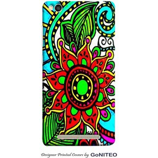 Printed Mobile Phone Back Cover Case for Redmi 3s by GoNITEO || Flower || Painting || Art ||
