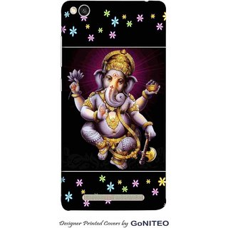 Printed Mobile Phone Back Cover Case for Redmi 3s by GoNITEO || Ganesha || Ganpati || God ||