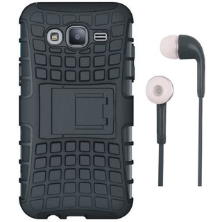 Oppo A37F Shockproof Kick Stand Defender Back Cover with Earphones