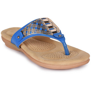 Action Women's Blue Slippers
