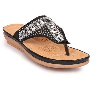 Action Women's Black Slippers