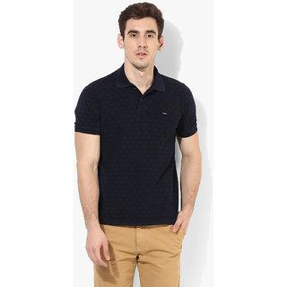 Octave Men's Black Cotton T-shirt