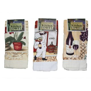 JADES Multicolor Cotton Printed Kitchen Towels (40X62Cm) Pack of- 3