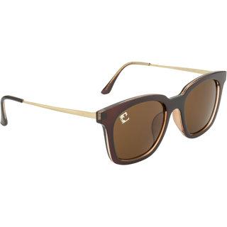 Clark n' Palmer Brown UV Protection Square Unisex Sunglasses
