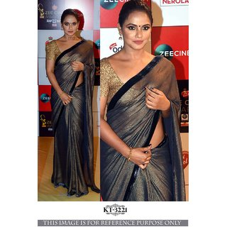0077208368bc90 Buy RJ Trandz Silver And Gold Silk Wedding Saree With Blouse Online ...
