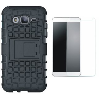 Samsung On7 Prime Shockproof Tough Defender Cover with Tempered Glass