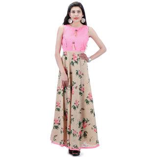 37c41bc841f445 Buy Cotton Printed Umbrella Design Kurti With Raw Silk Choli (Length-54)  Online - Get 60% Off