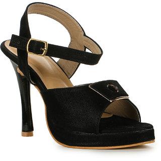 Vayonaa Women's Black Heels