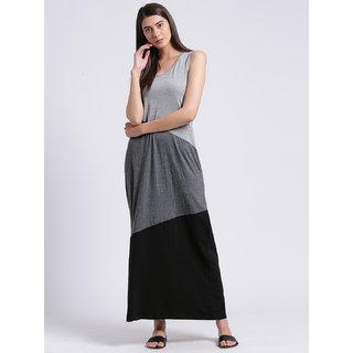 RIGO Sleeveless Color Block Maxi Dress