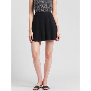 RIGO Solid Black Skater Skirt