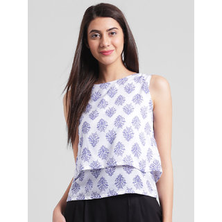 RIGO Paisley Print double layer  top