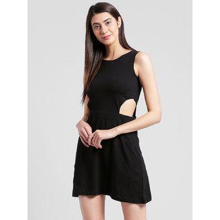 RIGO Black cutout waist Dress