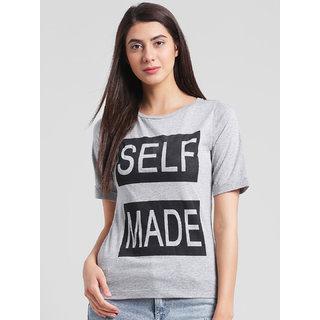 RIGO Self Made Print Grey Tshirt