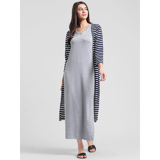 RIGO Striped Maxi Shrug