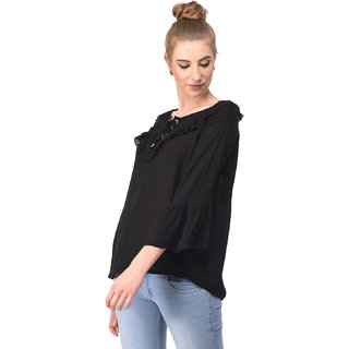 cec7fe1723c8de Buy Tamina R-0001 Black Lace Top Online   ₹999 from ShopClues