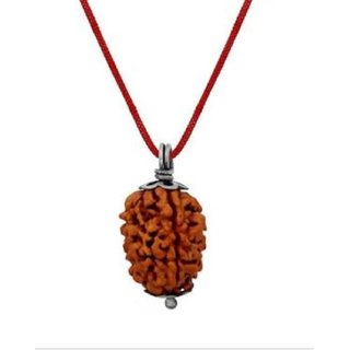 Rebuy Original Three Mukhi Rudraksh With Real Silver Pendant