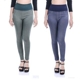 Timbre Denim Style Jeggings For Women Combo Pack Of 2