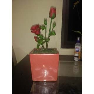 Artificial Red rose Flower plant