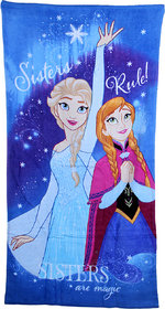 Bath Essentials Disney Sisters are Magic - Anna and Elsa Print - Favourite Princess Character Bath Towel (1 Piece)
