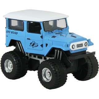 dealBindaas Die Cast Metal 132 Jeep Pull Back Action Dinky Car Toys Children Gift Collection Blue