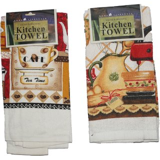 JADES Multicolor Cotton Printed Kitchen Towels (38X64Cm) Pack of- 2