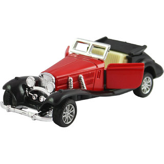 dealBindaas Die Cast Metal 132 Classic Antique Car Model Pull Back Action Opening Doors Dinky Car Toys Children Gift Collection Red
